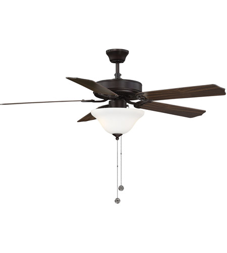 Savoy House 52-ECM-5RV-13WG First Value 52 inch English Bronze with Walnut/Teak Blades Ceiling Fan in White Marble  photo