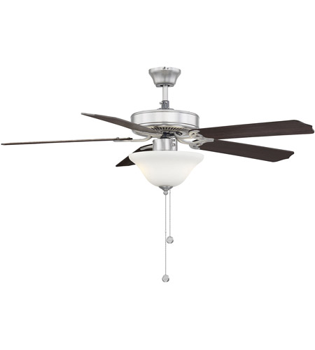 Savoy House First Value 2 Light Ceiling Fan in Satin Nickel 52-ECM-5RV-SN