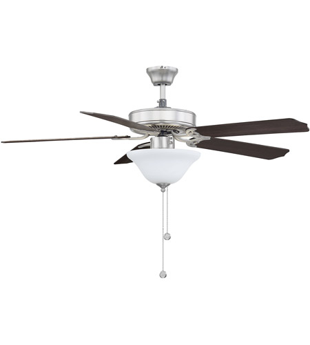 Savoy House 52-ECM-5RV-SN First Value 52 inch Satin Nickel with Chestnut/Grey Weathered Oak Blades Ceiling Fan in White Marble  photo