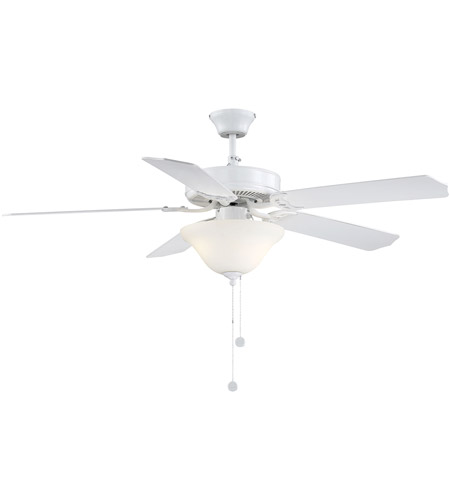 Savoy House First Value 2 Light Ceiling Fan in White 52-ECM-5RV-WH