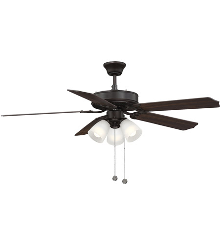Savoy House 52-EUP-5RV-13WG First Value 52 inch English Bronze with Walnut/Teak Blades Ceiling Fan in White Marble photo