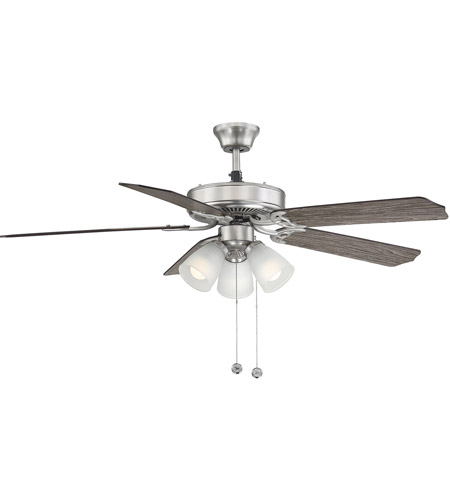 Savoy House First Value 3 Light Ceiling Fan in Satin Nickel 52-EUP-5RV-SN