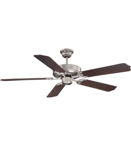Savoy House 52-FAN-5CN-SN Builder Specialty 52 inch Satin Nickel with Chestnut Blades Ceiling Fan photo