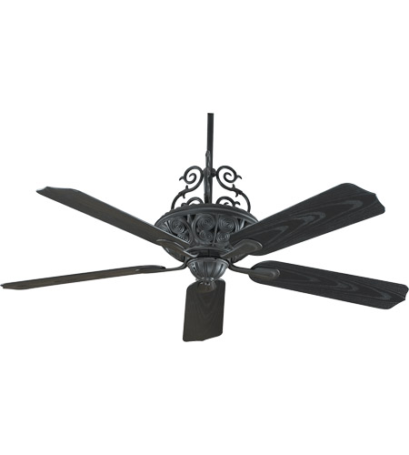 Savoy House Outdoor Living Veranda Ceiling Fan in Horseshoe Black 52-PFH-5-24 photo