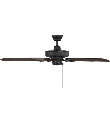 Savoy House 52-SGO-5CN-FB Lancer 52 inch Flat Black with Chestnut Blades Outdoor Ceiling Fan photo