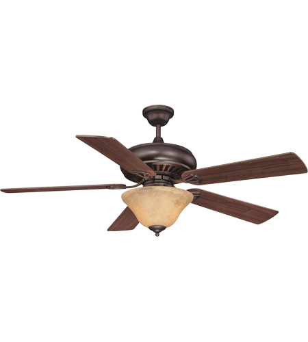 Savoy House 52P-614-5WA-13 Peachtree 52 inch English Bronze with Walnut Blades Ceiling Fan in Cream Marble photo