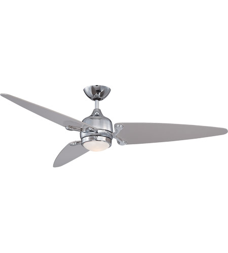 Savoy House Mistral 1 Light Ceiling Fan in Chrome with Satin Nickel 54-506-3SV-CH