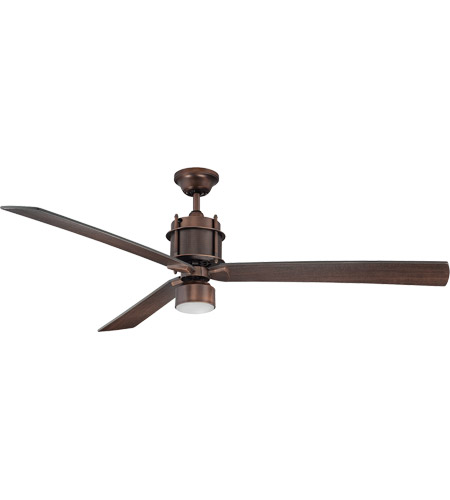 Savoy House 56-870-3CN-35 Muir 56 inch Byzantine Bronze with Chestnut Blades Ceiling Fan in White Etched photo