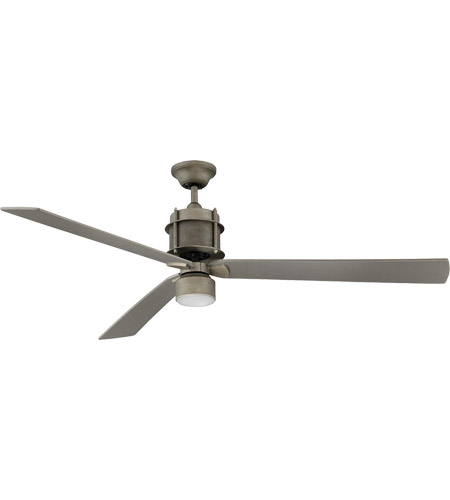 Savoy House Muir 1 Light Ceiling Fan in Aged Steel 56-870-3GR-242