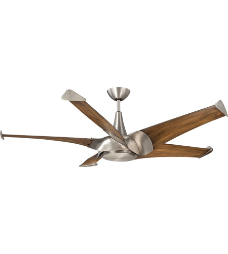 Savoy House 58-818-5CN-SN Ariel 58 inch Satin Nickel with Chestnut Blades Ceiling Fan photo