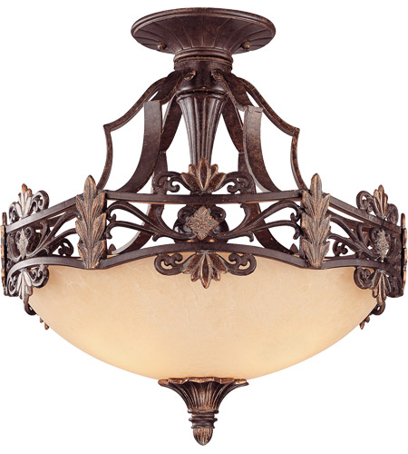 Savoy House Southerby 3 Light Semi-Flush in Florencian Bronze 6-0155-3-76