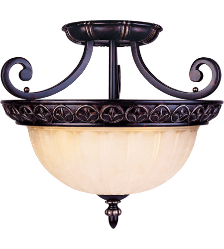 Savoy House Bedford 3 Light Semi-Flush in Distressed Bronze 6-049-3-59