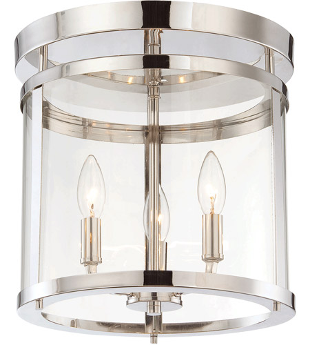 Savoy House Penrose 3 Light Semi-Flush Mount in Polished Nickel 6-1043-3-109 photo