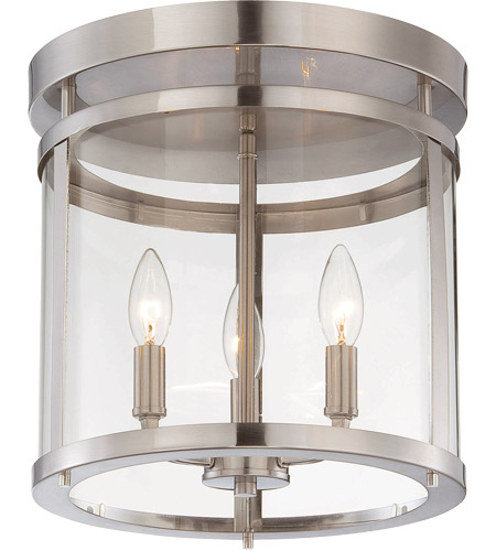 Savoy House Penrose 3 Light Semi-Flush in Satin Nickel 6-1043-3-SN photo