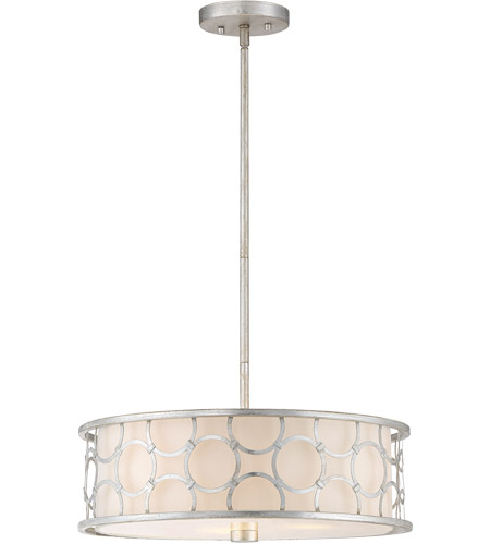 Savoy House 6-1162-3-34 Triona 3 Light 18 inch Silver Leaf Semi-Flush Ceiling Light, Convertible photo