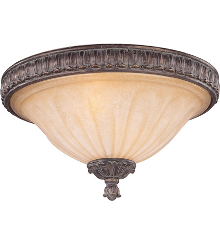 Savoy House Arte Nouveau Valence 2 Light Flush Mount in El Taramar 6-1261-13-131 photo