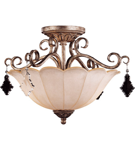 Savoy House Antoinette 2 Light Semi-Flush in New Mocha 6-1395-2-256 photo
