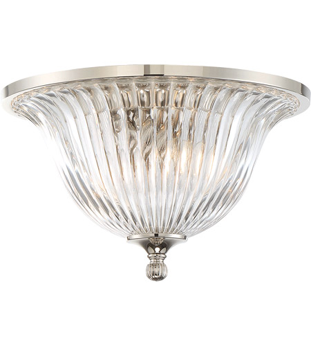 Savoy House 6-150-14-109 Aberdeen 2 Light 14 inch Polished Nickel Flush Mount Ceiling Light photo