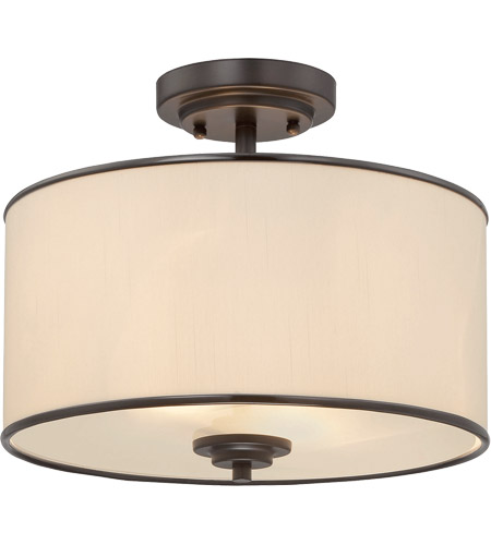 Savoy House Grove 2 Light Semi-Flush in English Bronze 6-1501-2-13