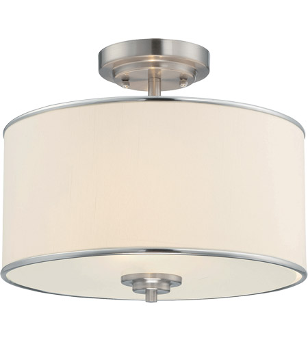 Savoy House Grove 2 Light Semi-Flush in Satin Nickel 6-1501-2-SN