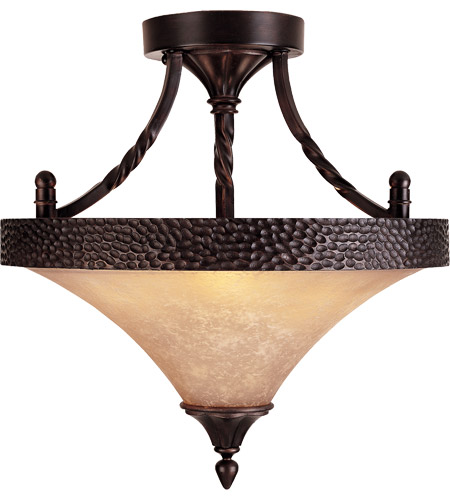 Savoy House Essex 3 Light Semi-Flush in English Bronze 6-1677-2-13 photo
