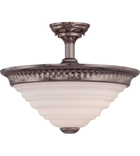 Savoy House Retro Thunder Semi-Flush in Brushed Pewter 6-20034-2-187 photo