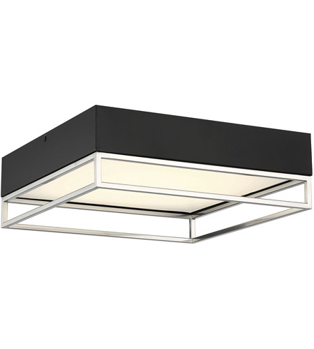 Savoy House 6-2190-14-SN Creswell LED 14 inch Satin Nickel Flush Mount Ceiling Light, Square photo thumbnail
