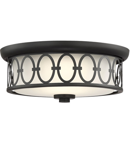 Savoy House 6-2390-14-89 Sherrill LED 14 inch Matte Black Outdoor Flush Mount photo thumbnail
