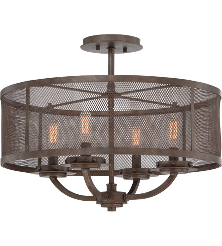 Savoy House Nouvel 4 Light Semi-Flush Mount in Galaxy Bronze 6-2504-4-42