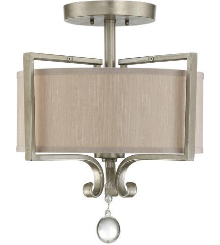 Savoy House Rosendal 2 Light Semi-Flush  in Silver Sparkle 6-258-2-307