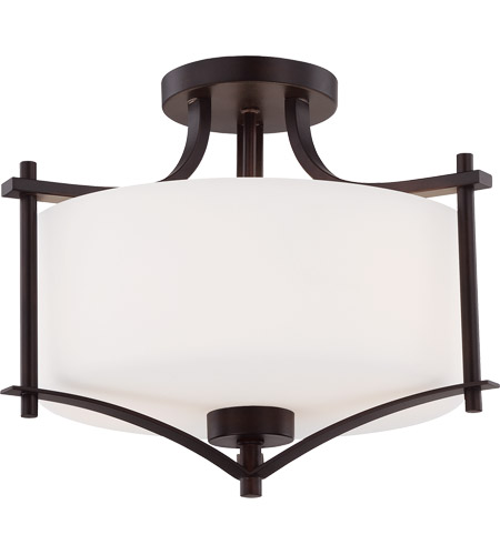 Savoy House Colton 2 Light Semi-Flush in English Bronze 6-334-2-13