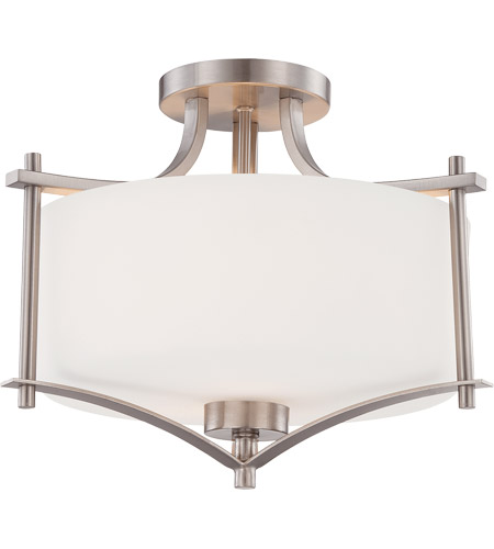 Savoy House Colton 2 Light Semi-Flush in Satin Nickel 6-334-2-SN