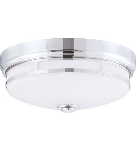 Savoy House 6-3340-15-109 Signature 3 Light 15 inch Polished Nickel Flush Mount Ceiling Light in White photo