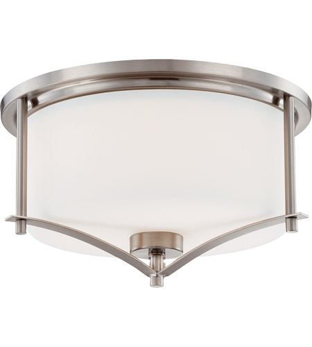 Savoy House 6-335-15-SN Colton 2 Light 15 inch Satin Nickel Flush Mount Ceiling Light photo