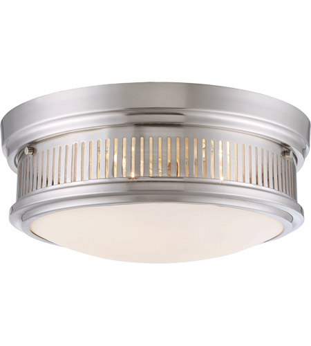 Savoy House 6-3360-15-SN Sanford 3 Light 15 inch Satin Nickel Flush Mount Ceiling Light photo
