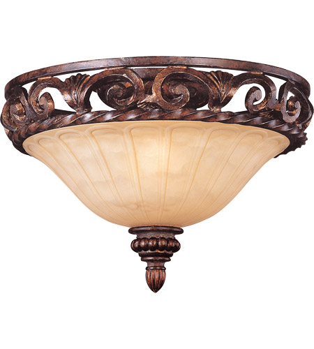 Savoy House Gallant 2 Light Flush Mount in Florencian Bronze 6-36755-15-76 photo