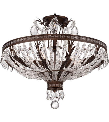Savoy House 6-372-5-56 Sheraton 5 Light 24 inch New Tortoise Shell Semi-Flush Ceiling Light photo