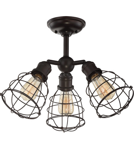 Savoy House 6-4136-3-13 Scout 3 Light 23 inch English Bronze Semi-Flush Ceiling Light, Adjustable photo