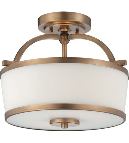 Savoy House Hagen 2 Light Semi-Flush in Heirloom Brass 6-4382-2-178 photo