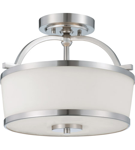 Savoy House 6-4382-2-SN Hagen 2 Light 13 inch Satin Nickel Semi-Flush Ceiling Light photo