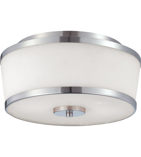 Savoy House 6-4384-13-SN Hagen 2 Light 13 inch Satin Nickel Flush Mount Ceiling Light photo