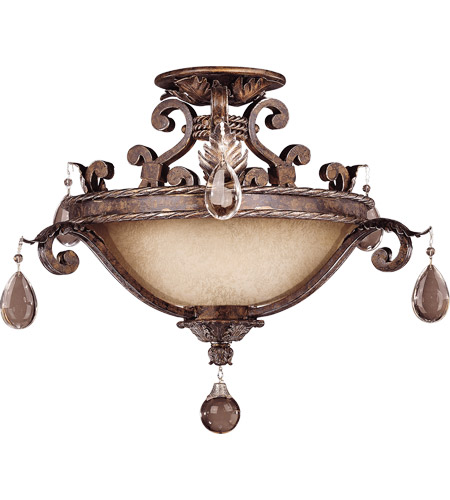 Savoy House 6-5314-3-8 Chastain 3 Light 21 inch New Tortoise Shell with Silver Semi-Flush Mount Ceiling Light  photo