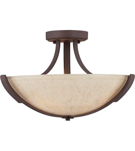 Savoy House 6-5433-3-117 Berkley 3 Light 17 inch Heritage Bronze Semi-Flush Mount Ceiling Light photo