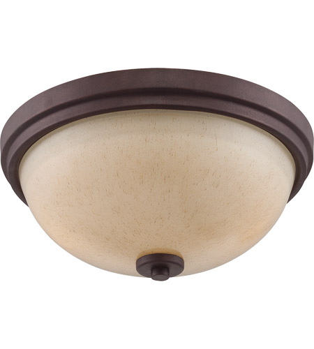 Savoy House Berkley 2 Light Flush Mount in Heritage Bronze 6-5439-13-117
