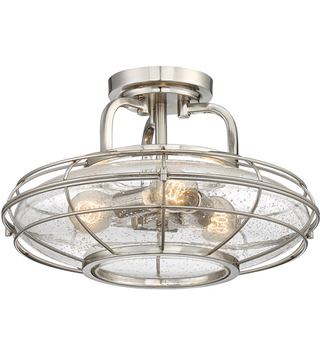 Savoy House 6-574-3-SN Connell 3 Light 16 inch Satin Nickel Semi-Flush Mount Ceiling Light photo