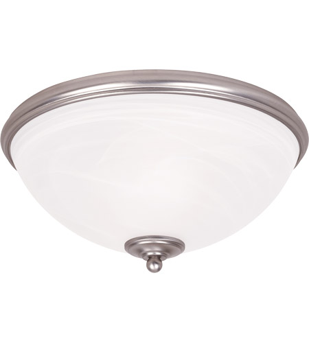 Savoy House 6-5787-13-69 Willoughby 2 Light 13 inch Pewter Flush Mount Ceiling Light in White Marble photo