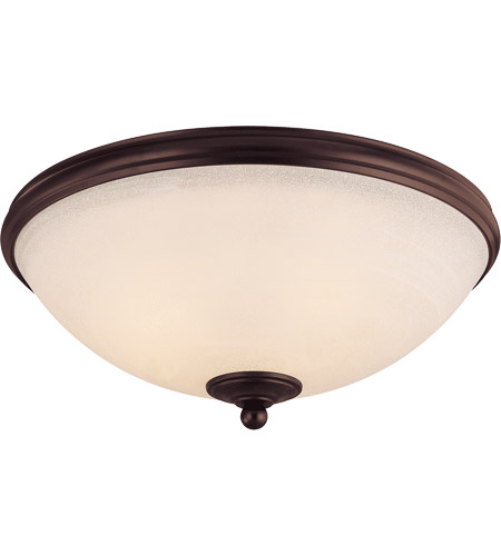 Savoy House 6-5787-15-13 Willoughby 3 Light 15 inch English Bronze Flush Mount Ceiling Light in Cream Marble photo