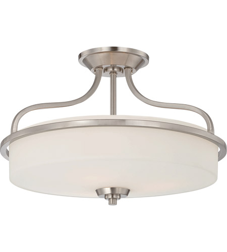 Savoy House Charlton 3 Light Semi-Flush in Satin Nickel 6-6224-3-SN