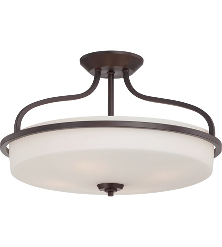 Savoy House 6-6225-4-13 Charlton 4 Light 21 inch English Bronze Semi-Flush Ceiling Light photo
