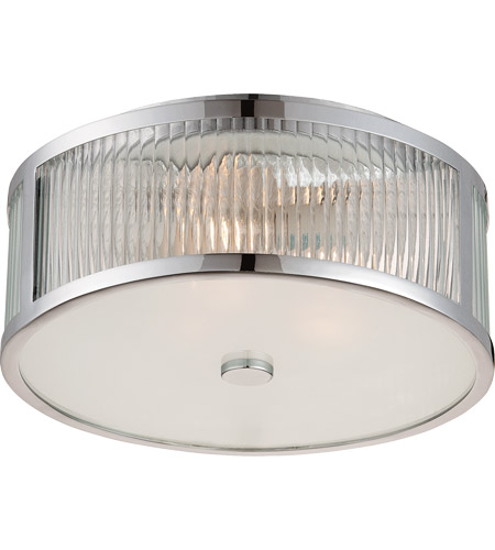 Savoy House 6-6800-15-11 Lombard 3 Light 15 inch Polished Chrome Flush Mount Ceiling Light in Clear photo